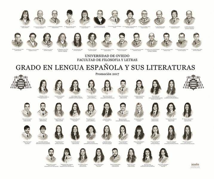 Orla del Grado de Lengua Española y sus Literaturas de la Facultad de Filosofía y Letras de la Universidad de Oviedo