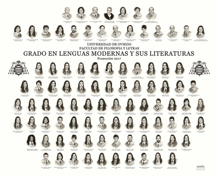 Orla del Grado de Lenguas Modernas y sus Literaturas de la Facultad de Filosofía y Letras de la Universidad de Oviedo