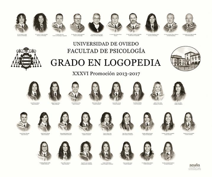Orla del Grado de Logopedia de la Facultad de Psicología de la Universidad de Oviedo