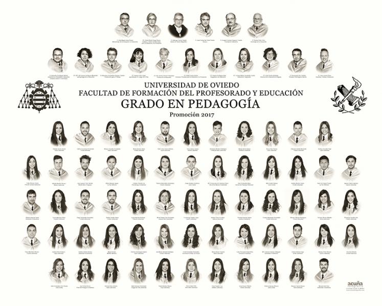 Orla del Grado de Pedagogía de la Facultad de Formación del Profesorado y la Educación de la Universidad de Oviedo