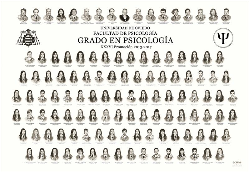 Orla del Grado de Psicología de la Facultad de Psicología de la Universidad de Oviedo