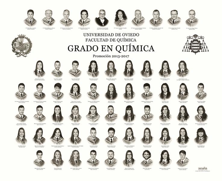 Orla del Grado de Química de la Facultad de Química de la Universidad de Oviedo