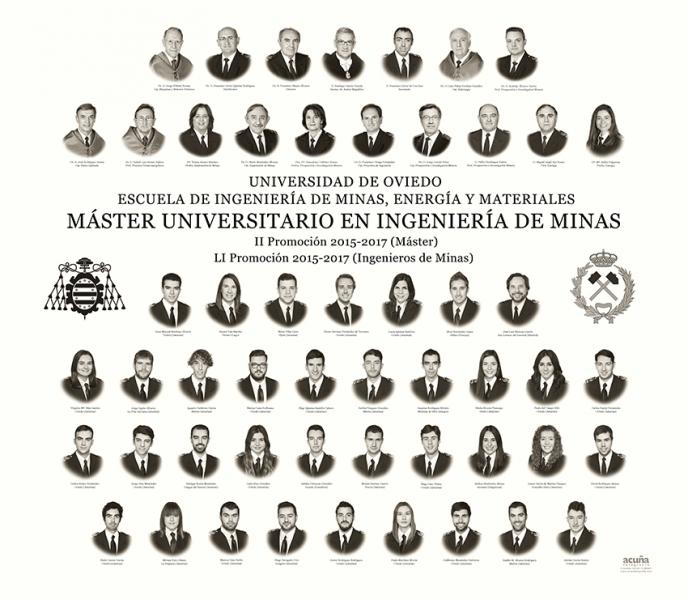 Orla del Master Universitario en Ingeniería de Minas de la Escuela de Minas, Energía y Materiales de la Universidad de Oviedo