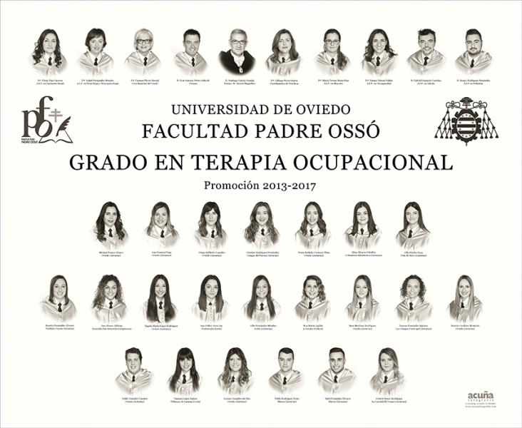 Orla del Grado de Terapia Ocupacional de la Facultad Padre Ossó de la Universidad de Oviedo